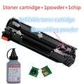 Для HP 285A многоразового тонер картридж + тонер + чип для Pro P1102 M1130 M1132 лазерный принтер бесплатная доставка продажа