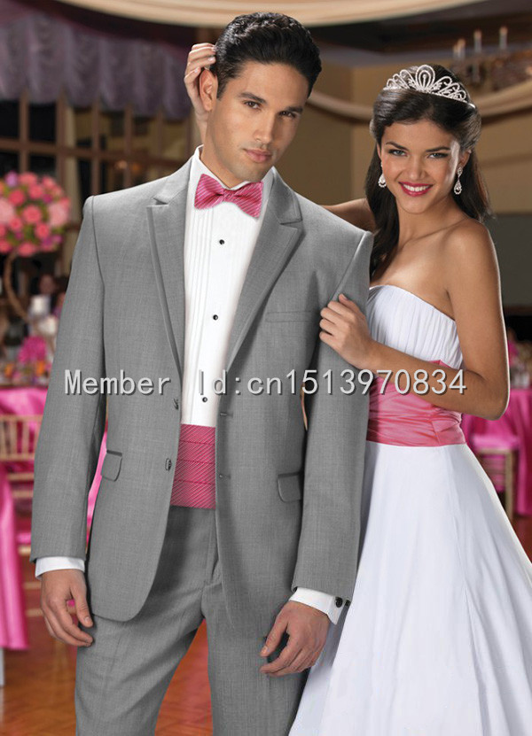 Pink And Grey Prom Suits | My Dress Tip