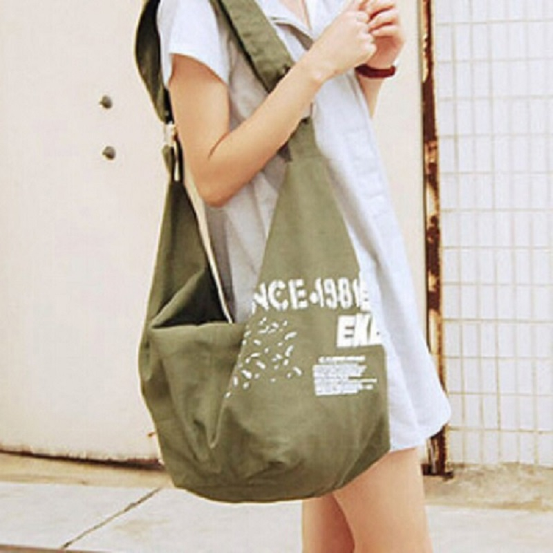 2016 Hotfashion Women's Letter Canvas Bags Design Shoulder Bag Handbags 4 Colors