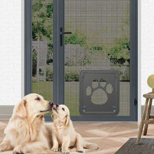 Дверь для животных отпечаток лапы собаки шаблон ПЭТ кошка запираемый экран на дверь и окно собачка безопасности лоскут Безопасные ворота товары для домашних животных Прямая J17