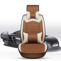 Luxury Flax Car Seat Covers Universal Full Surrounded Cushion For Volkswagen Vw Passat B5 B6 B7