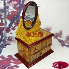Деревянные [правительства] золото камфоры дерева комод резные деревянные шкатулка свадебный подарок украшения дома