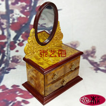 Wooden [government] gold camphor wood dresser carved wooden jewelry box jewelry box wedding gift ornaments home