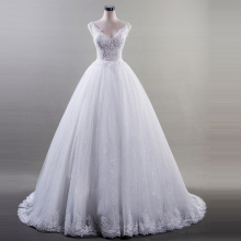 FANGDALING V Neck Wedding Dress With Bridal Gowns Ball Gown