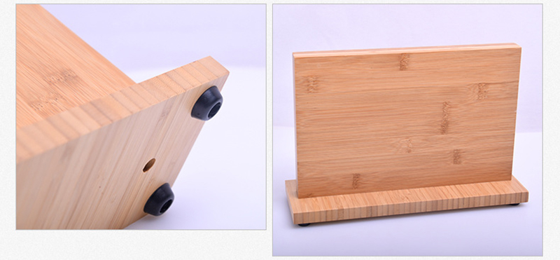 Super Strong Magnetic Knife Holder Solid Wood Bamboo Kitchen Knife Stand Magnet Knife Block Storage Stand Rack Chef Utensil Tool 14