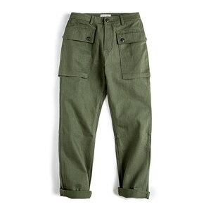 Image 3 - Maden hommes coupe décontractée jambe droite coton décontracté militaire Cargo pantalon de travail