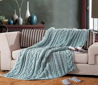 Online kopen wholesale blauw wollen deken uit china blauw - Como hacer una manta de lana para el sofa ...