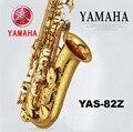 2016 Новый Высокое качество YAS 82Z альт-саксофон музыкальные инструменты профессиональный ми-бемоль саксофон альт Золотой