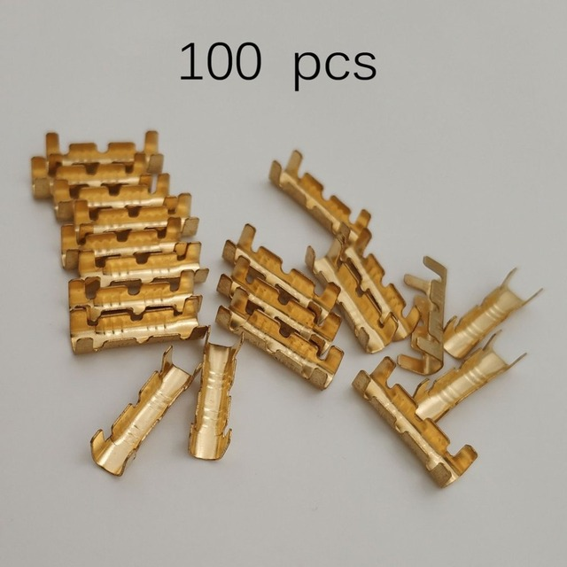 Strange 100Pcs Lot Dock Connectors Line Pressing Button Quick Connect Button Wiring 101 Orsalhahutechinfo