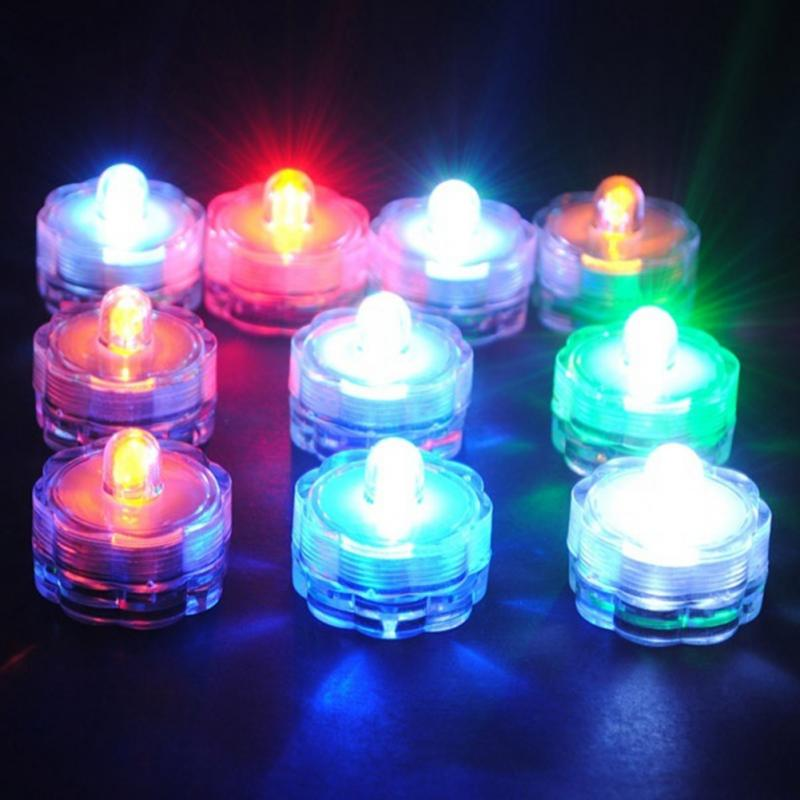Wedding Party Deocration Vase Lamp Hot Sale Super Bright Submersible Waterproof Mini LED Tea Light Candle Lights