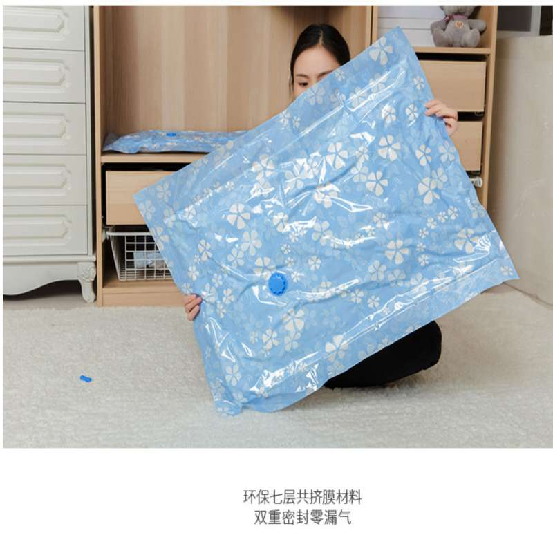 Image 5 - Arrival Flower Printed Foldable Extra Large Compressed Organizer Vacuum Bag Clothing Storage Bag Saving Space-in Storage Bags from Home & Garden