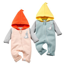 2016 Winter Baby Boys Clothes Body Bebes Newborn Baby Hooded Rompers Cotton Bobo Choses Outfits Cartoon Rabbit Infant Outerwear