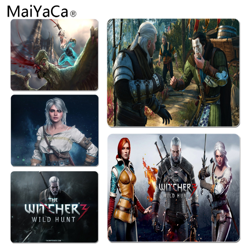 MaiYaCa The Witcher 3 Comfort Mouse Mat Gaming Mousepad Size for 18X22CM Speed Version Gaming Mousepads