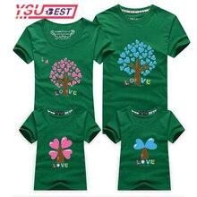 Padre y Madre y niños de dibujos animados trajes nuevos ropa de la familia, familia de dibujos animados árbol de amor moda camisas familia juego de ropa