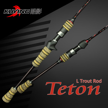 KUYING 1.98m Teton L Casting Spinning Lure Fishing Rod Pole for fish with FUJI ring Carbon Cloth For Opsariichthys Free shipping