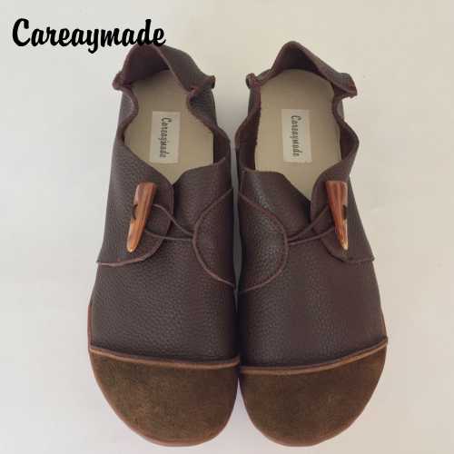 Careaymade-New Head layer cowhide pure handmade shoes, the retro art mori girl shoes,Women's casual Flats shoes,size4.5-10 huifengazurrcs new pure handmade casual