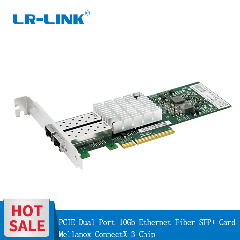 LR-LINK 6822XF-SFP+ Mellanox 10Gb NIC Ethernet Fiber Optical Lan Card Dual Port PCI-Express Network Card ConnectX-3 Chip