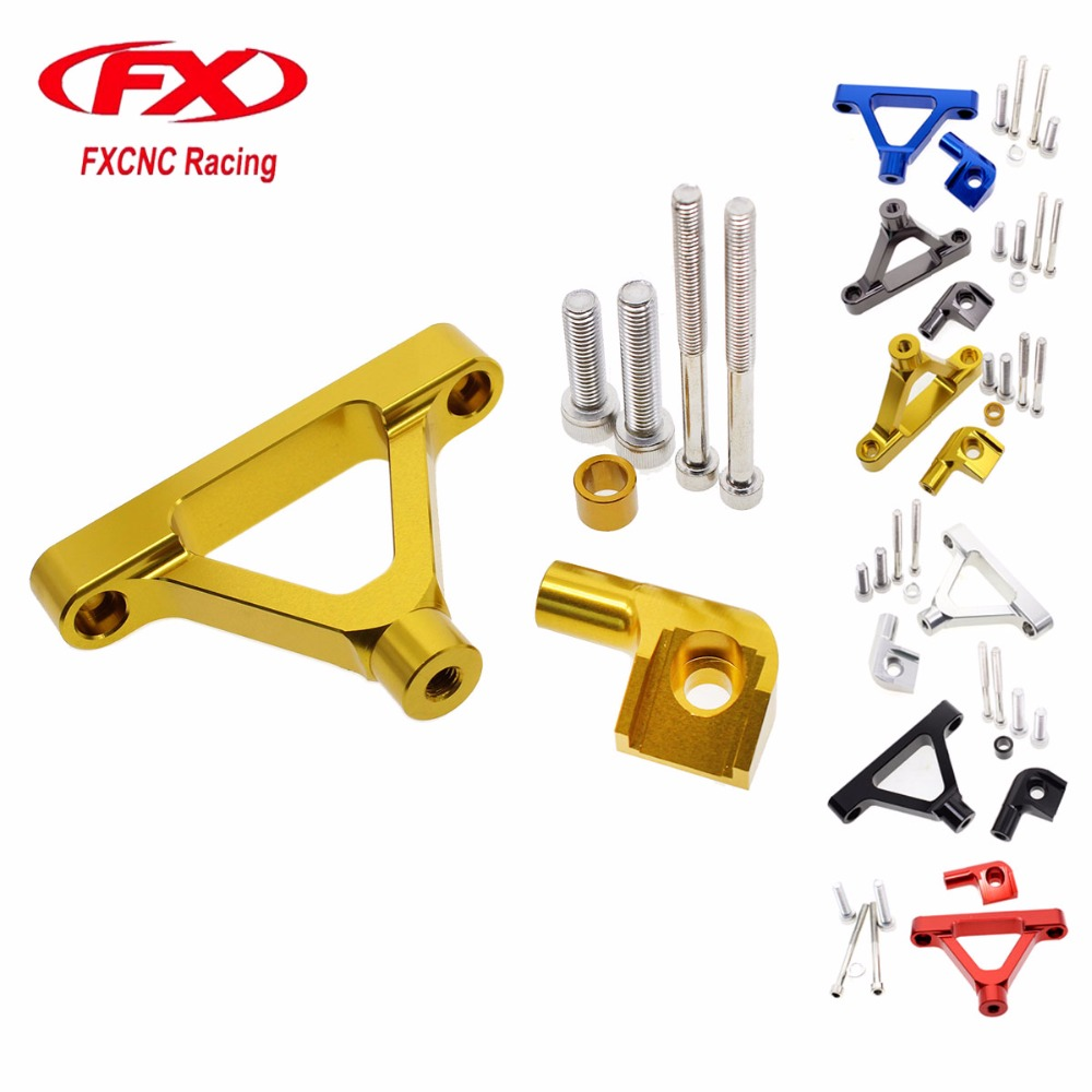FX CNC Aluminum Motorcycle Adjustable Steering Stabilize Damper Bracket Mount Support Kit For KAWASAKI ZX6R ZX 6R 2007-2008 for honda cbr600rr cbr 600rr 2005 2006 fx cnc aluminum adjustable motorcycle steering stabilizer mounting bracket support kit