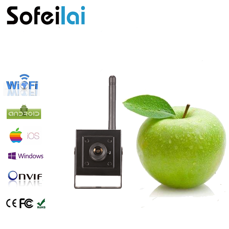 960P small WIFI wireless IP camera audio SD card video recording security IPcam motion alarm onvif CCTV P2P surveillance cameras wireless waterproof security camera system 2 4g long transmitter distance 4cameras dvr monitor up to 32g sd card wifi ipcam kits