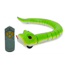 Electric Snake Infrared Simulation Remote Control Snake Children's Whole Toy Green Rattlesnake Simulation Animal Toy Model pvc figure simulation animal model green turtle tortoise stork simulation animal toy model set