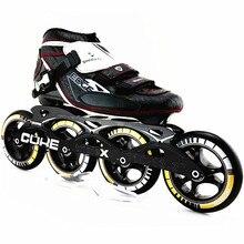 Profesional De Fibra De Carbono Patines Botas SHANKOL Slalom Patines de ruedas 4 ruedas de Patines en línea Rodillo Patins
