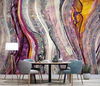 8d Linea De Tinta Papel Mural 3d Acuarela Abstracta Papel Pintado De