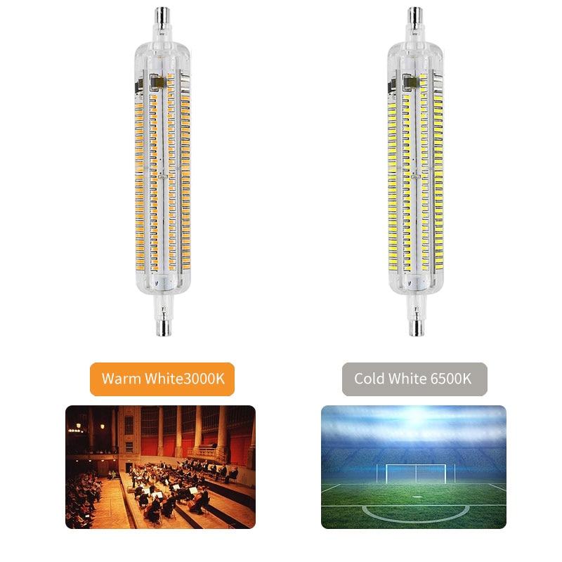 118mm 78mm R7S LED Bulb  SMD 3014 220V 110V Light Tube For Home Led Replacement 6500K 3000K Cold Warm White Saving Lamp