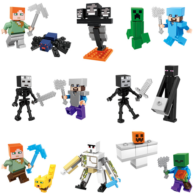 2018 HOT Minecraft Mineral Mining Minifigure Building Blocks Sets Educational Toy for Children Compatible LegoING Christmas Gift 3