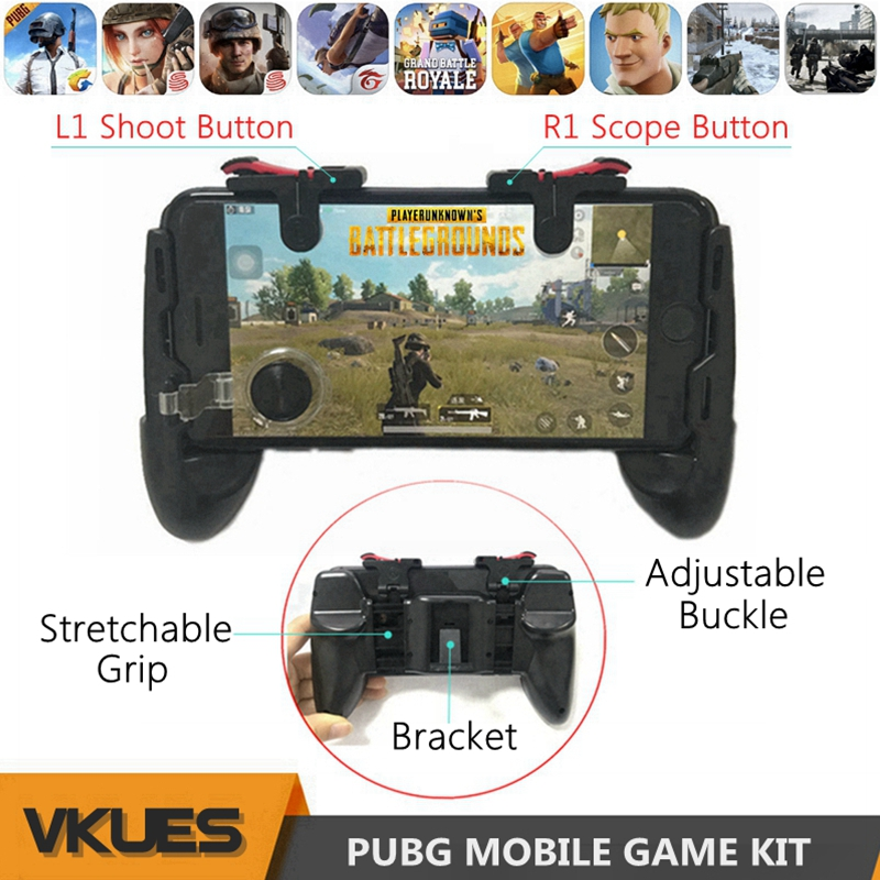 Libre de fuego PUBG móvil controlador para iPhone teléfono Android juego Pad PUGB Mobil de juego Joystick Gamepad L1 R1 activa L1R1 botón