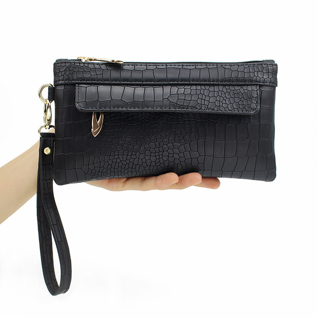 New Brand Alligator Stripe Evening Clutch Bags for Women 2016 Black Clutch Bag and Purses Mini Female Handbags for Coin Pocket