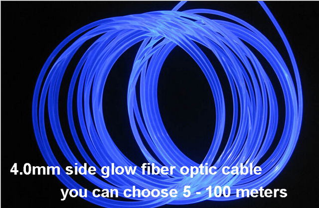 choose cable lighting. 5meters 4.0mm Side Glow PMMA Fiber Optic Cable Led Lights For Cars Choose Lighting G