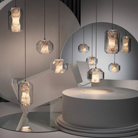 Modern Planet Ball pendant lamp Acrylic Globe Restaurant Glass Pendant Lights