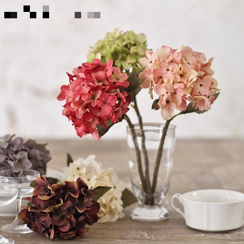 2015 New Real Touch Hydrangea Silk Flowers Artificial Flowers Hydrangea Decorative  Flowers 28e170e4fe70