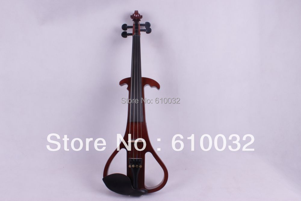4/4 Electric Violin Solid wood 19--29#  dark   red  color  4string 4 4 electric violin solid wood 6 18 silvery dark blue color 4 string