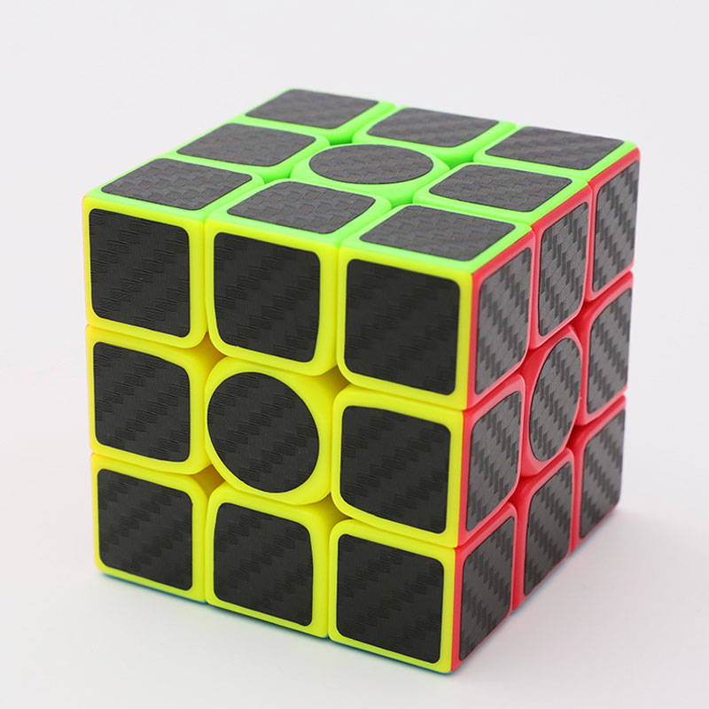 ZCUBE 3x3x3 Carbon Fiber Sticker Speed Magic Cube Puzzle Toy Children Kids Gift Toy Youth Adult Instruction