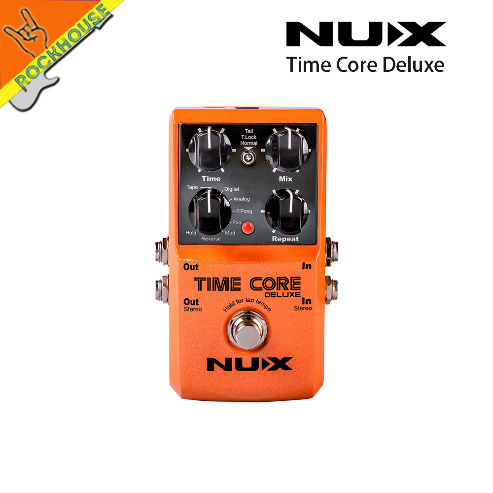 NUX Time Core Deluxe 7 types delay guitar effect pedal stereo looper effects with 40's recording time with USB upgrade Jack nux 1 8 lcd time force delay guitar effect pedal white black