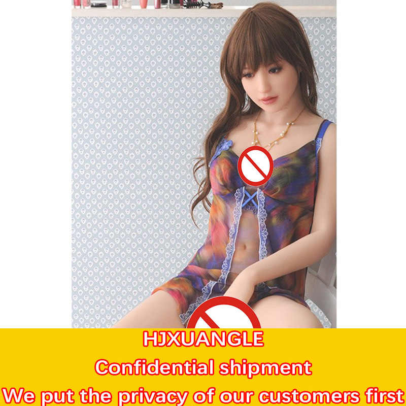 3D Soft Reality Feeling Seamless Inflatable Semi-solid Doll Vaginal Anal Big Boobs Male Masturbation Penis Training Sex Toys