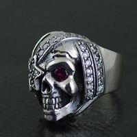 925 чистого серебра Джастина Дэвиса стиль Пираты королевы тайского серебряное кольцо череп