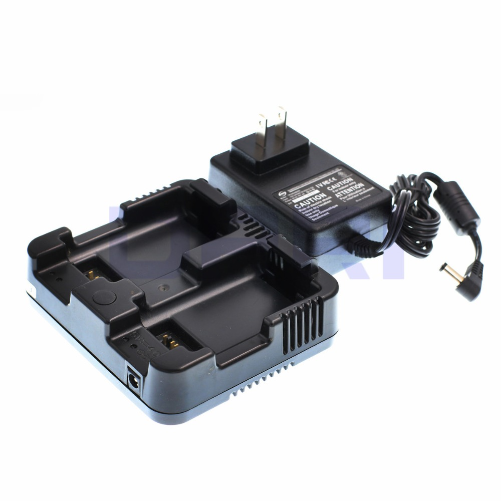 DRRI Dual Charger for Nikon NIVO 2M//2C Series DPL-322 Total Station Nivo C//M