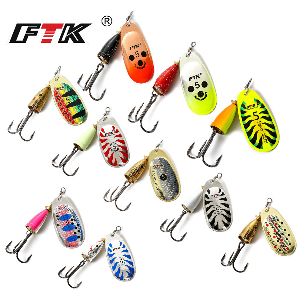 FTK 3#-5# Similar as Mepps Spinner Bait Spoon Lures Fishing Spoon Hard Bait With Mustad Treble Hooks For Carp Lure Fishing 4pcs set of fishing lures saltwater hard bait metal spoon fishing lure spinner wobbler treble hooks for sea fishing accessory