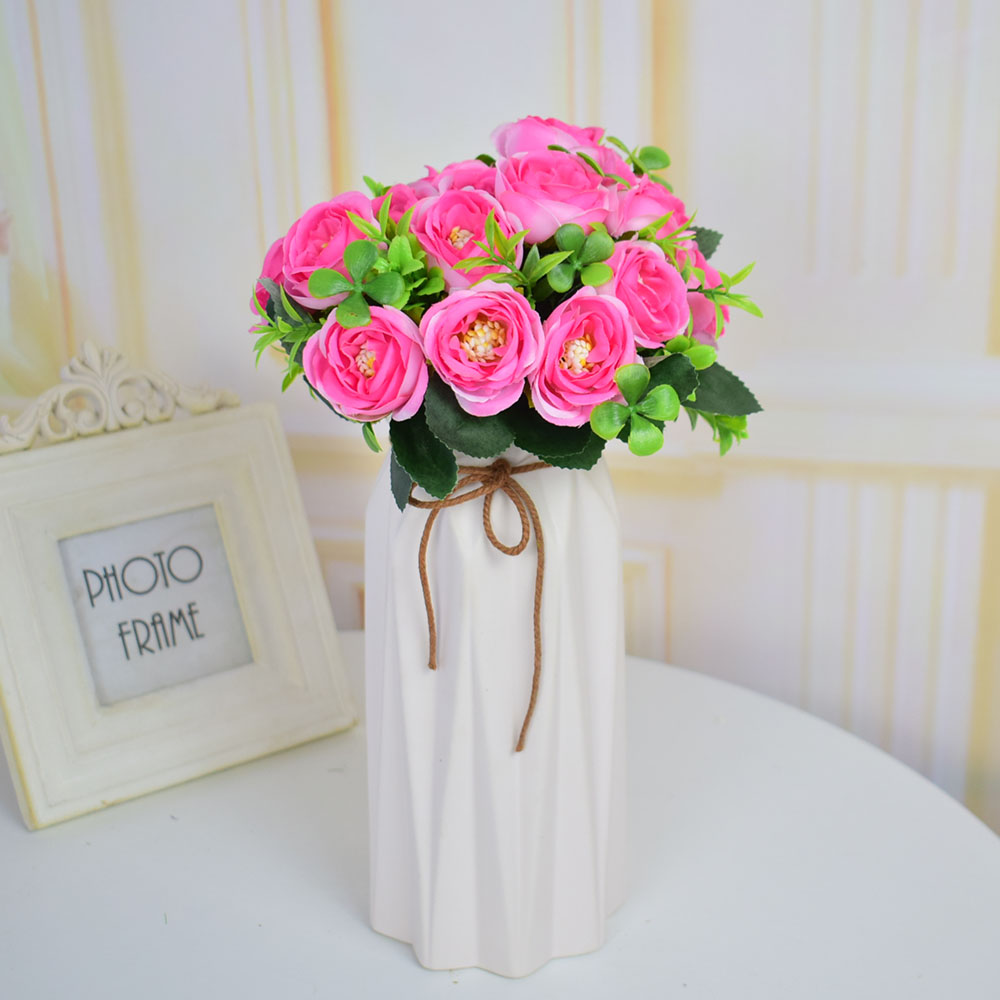 Artificial Flowers Silk Roses Bouquets For Home Wedding Table Garden