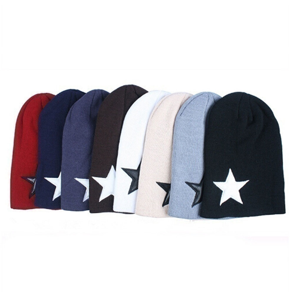 4a3793515 2018 Big Star Winter Hats Warm Fashion Knitting Cap For Woman Men Beanie  Skullies Best Female Gorro