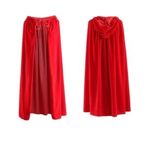 Image 3 - ผู้ใหญ่เสื้อคลุมยาวกำมะหยี่RobeสีเขียวสีดำสีแดงฮาโลวีนCarnival Purim Medievalแม่มดWiccaแวมไพร์