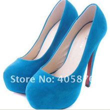 Free Shipping Hot Sale Pirce  New Arrival ladies fashion sexy high heel velvet shoes/Women's pump shoes size:35-39