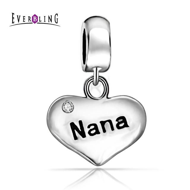 e7a0ac393 ... ebay nana clear cz dangle bead 100 925 sterling silver charm bead fit  pandora european charms ...