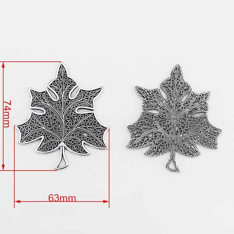 2pcs עתיק כסף פיליגרן תחרת פתוח לב פרח עלה כוכב Mondala דייזי תליון לשרשרת תכשיטי ביצוע ממצאי