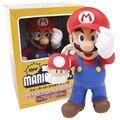 Super Mario Bros Mario con Toad Mushroom Figura de Acción de Colección Modelo de Juguete Para Niños Juguetes Regalos de Cumpleaños de Navidad 30 cm