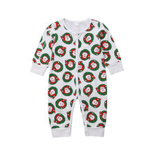PUDCOCO Newest Hot Xmas Newborn Baby Girl Boy Santa Claus Long Sleeve Rompers Warmers Kids Cotton Clothes 0-18M(China)