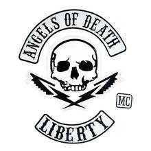 ANGELS OF DEATH LIBERTY FULL SETS Embroidered punk biker Patches Clothes Stickers Apparel Accessories 4PCS/SET