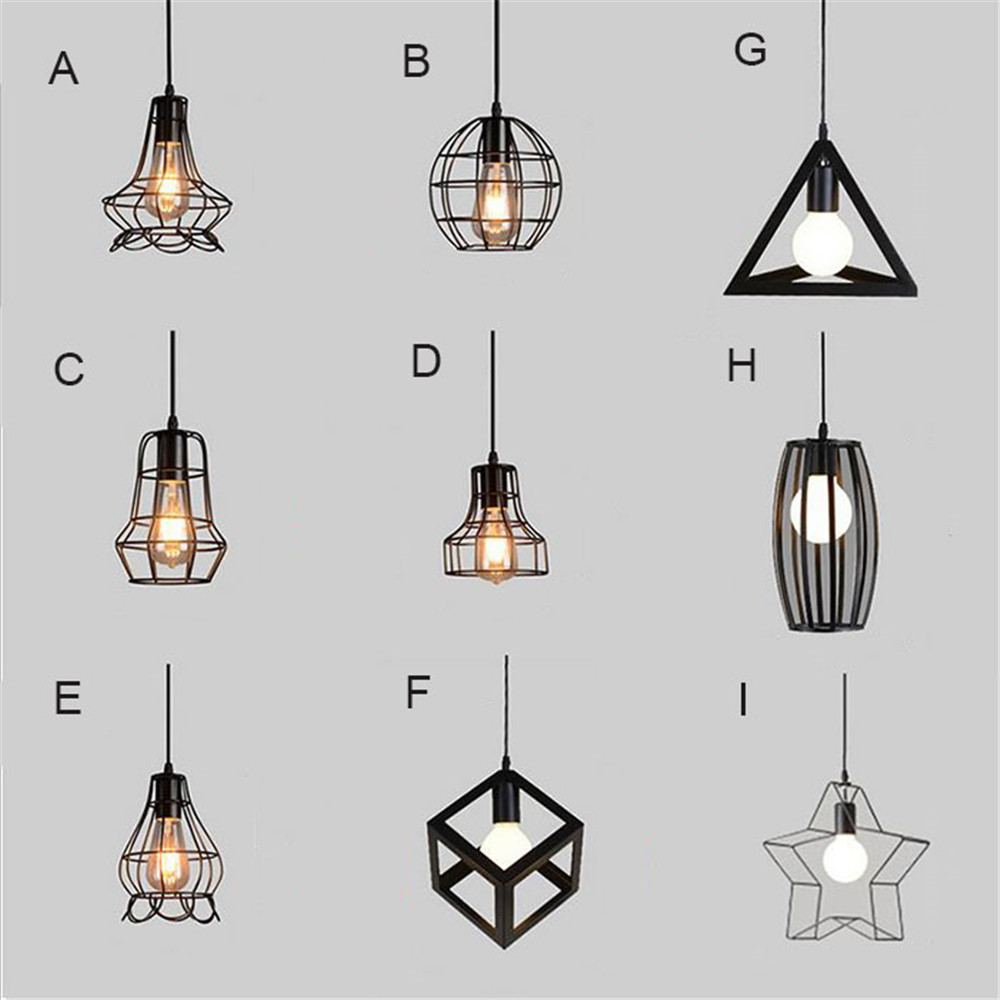 American Country Style Iron Pendant Light Loft Industrial